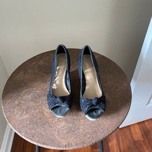 American Eagle Black Wedge Heels